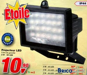 Un projecteur LED 3W, c'est possible ?