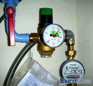 Pression eau chaude tr�s faible (4l/min)