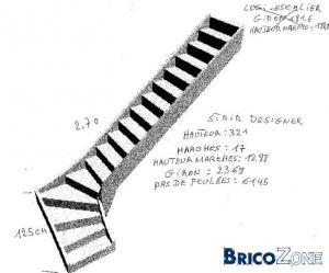 escalier2/4 tournant droit beton