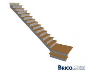 escalier quart tournant 3m20