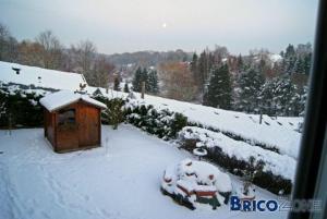Une photo de votre jardin sous la neige