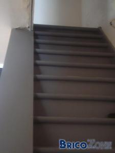 Rampe escalier bambou