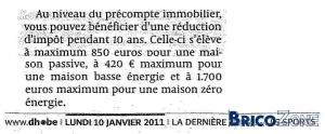 Nouvelles réductions fiscales 2011