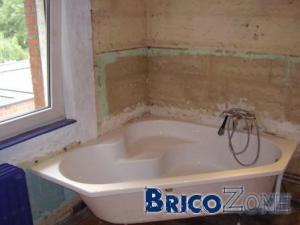 mise en place baignoire acrylique