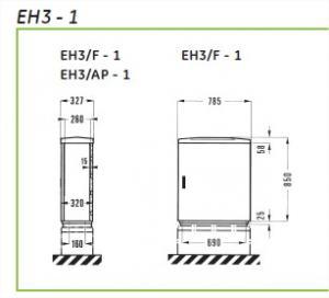 Armoire de trottoir type EH3