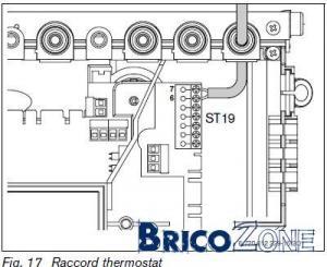 Branchement thermostat sur Buderus Logamax