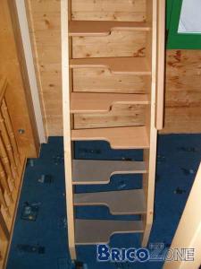 Escalier à marches décalées