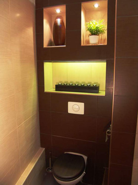 Beautiful idees deco wc suspendu photos transformatorio for Decoration wc suspendu