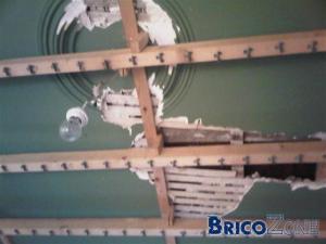 Possibilit� de sauver notre ancien plafond en pl�tre?