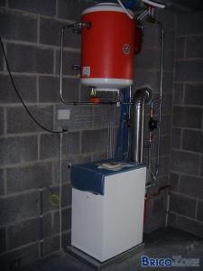 Extension de chauffage pour construction d'une annexe