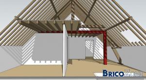 Structure mezzanine bois