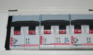 Ampérage des disjoncteurs