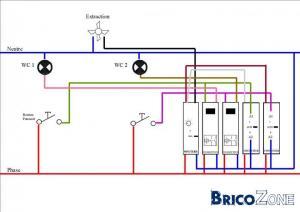 1 extracteur pour 2 WC Différent sur pont de diode???