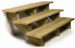 escalier de jardin en bois. Black Bedroom Furniture Sets. Home Design Ideas