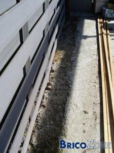 Ecran de jardin sur muret avec pillier