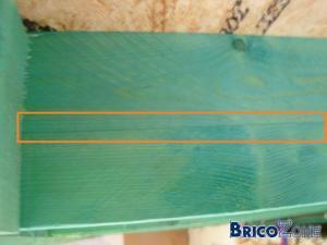 gîtage fendu dans le sens du fil du bois