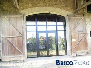 Cherche id e de chassis pour ouverture porte de grange - Fabriquer une porte de grange ...