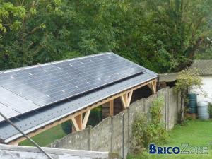 """Placement de panneaux solaire sur """"abri de jardi"""