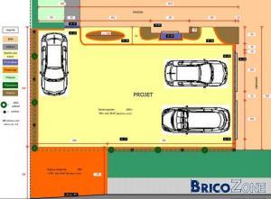 Projet de parking avec gravier (nidagravel) & pav�s