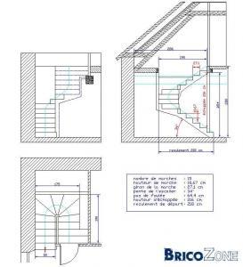 Conception escalier intérieur en béton