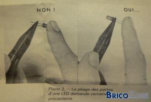 Montage des LED's. Pour info