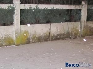 plaque clôture en beton