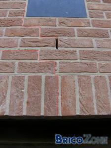 Fissure brique de parement (cornière)
