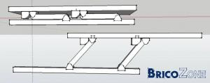 Fabrication table relevable: charni�res ?