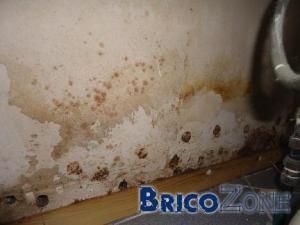 Humidit� et pleins de trous en bas du mur