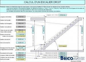 Calcul escalier 1/4 tournant