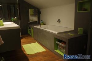 Am�nagement d'une salle de bain dans veille maison