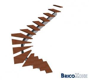 Céation d'un escalier 2/4 tournant
