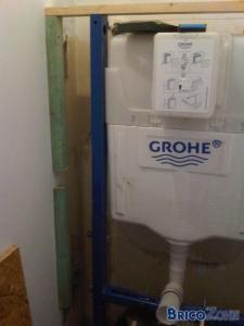 Habillage / Cloison d'un WC suspendu   (Explications et d�tails)