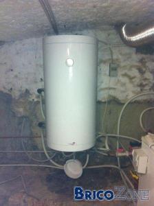 Passage d'un boiler lié à la chaudière à un boiler électrique