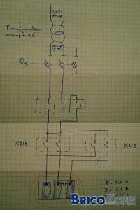 shéma élèctrique pour moteur triphasé en mono