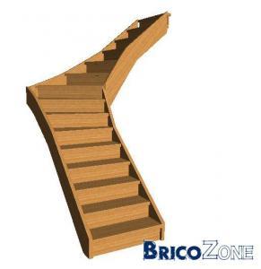escalier 1 4 tournant calcul
