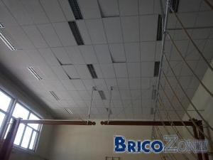 Isolation plafond suspendu