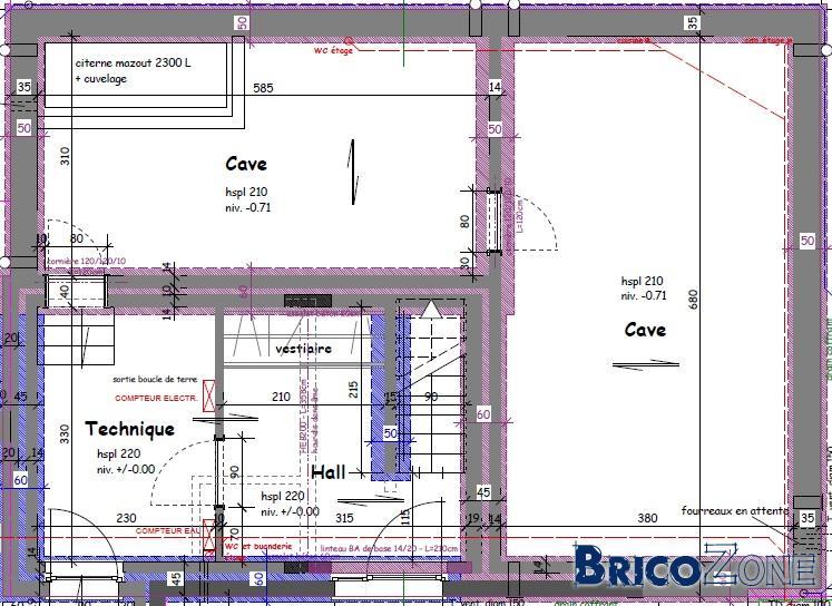 Nouvelle construction-VMCDF plan d'implantation