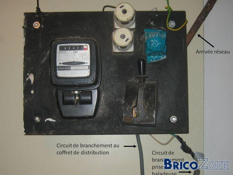 Circuit 32a pour cuisini re lectrique 63a 40a - Branchement compteur electrique maison ...