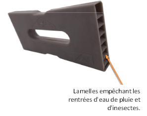 protection aeration entre briques