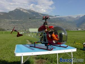 Hélicoptère rechargeable