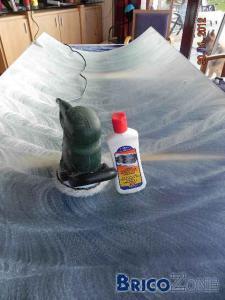 Nettoyage nickel de porte de douche