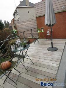 Entretien terrasse bois qui verdit...