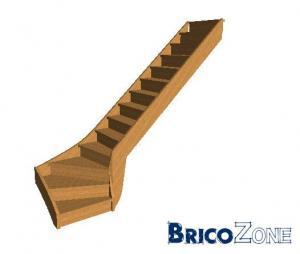 escalier quart tournant bas