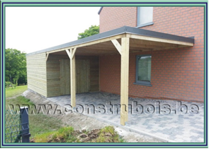 Construction carport adoss�