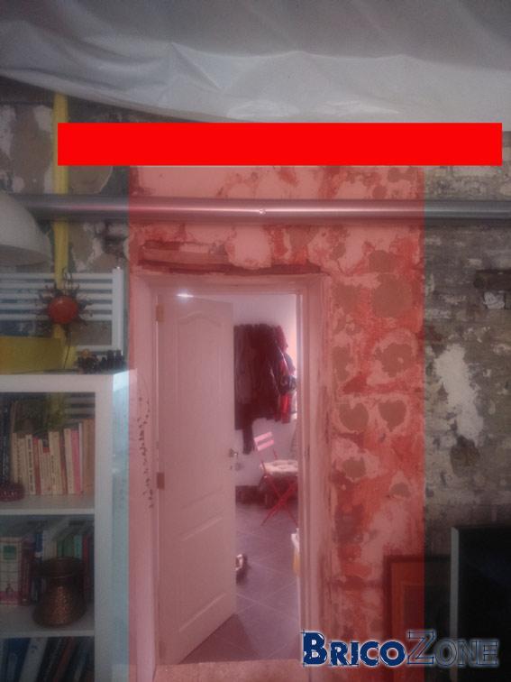 agrandissement porte dans mur porteur