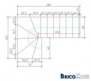 Calcul escalier demi tournant - Calcul quantite beton ...