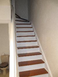 La r novation de mon escalier en bois venis for Peut on peindre sur un escalier vitrifie