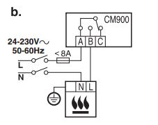 Remplacement d'un thermostat 3 fils par un thermostat programmable 2 fils
