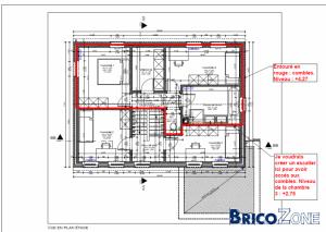 modifications intérieures : battre mur porteur et escalier en demi-niveaux